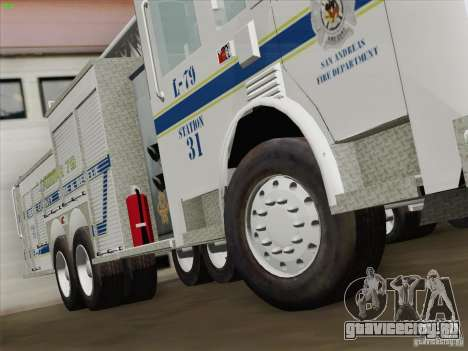 Pierce Puc Aerials. Bone County Fire & Ladder 79 для GTA San Andreas вид снизу