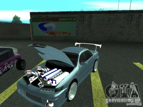Toyota Carina ED  DRFT для GTA San Andreas вид сзади слева