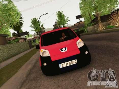 Peugeot Bipper для GTA San Andreas вид сзади слева
