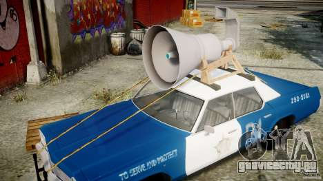 Dodge Monaco 1974 (bluesmobile) для GTA 4 вид сверху