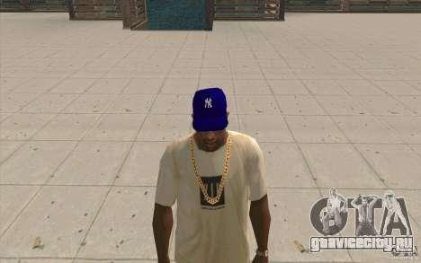 Кепка newyorkyankiys фиолетовая для GTA San Andreas второй скриншот