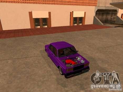 ВАЗ 2107 JDM для GTA San Andreas вид сбоку