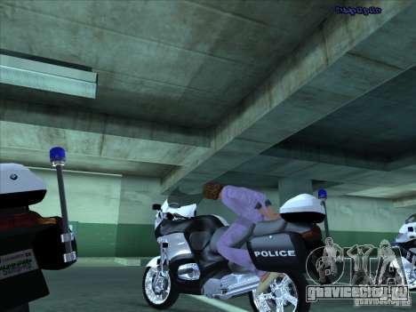 CopBike для GTA San Andreas вид изнутри