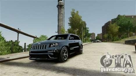 Jeep Grand Cherokee SRT8 для GTA 4 вид изнутри