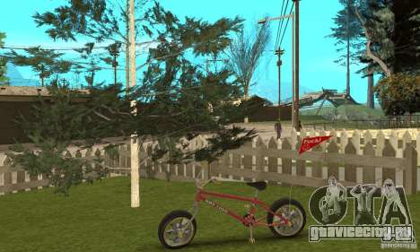 BMX Long 2 New Wheel для GTA San Andreas вид сзади