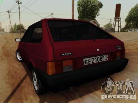 ВАЗ 21083i для GTA San Andreas вид сзади слева