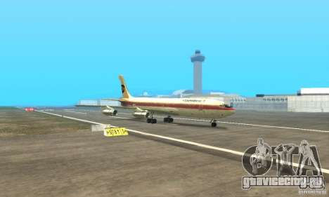 Boeing 707-300 для GTA San Andreas вид сзади