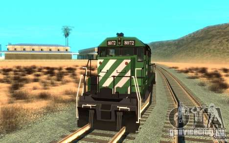 Локомотив SD 40 Burlington Northern 8072 для GTA San Andreas вид справа