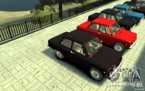 ЗАЗ 968М для GTA 4 вид сзади