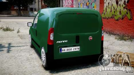 Fiat Fiorino 2008 Van для GTA 4 вид сзади слева
