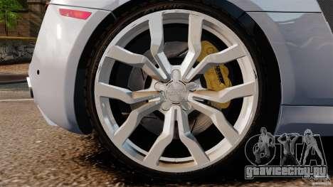 Audi R8 5.2 Stock 2012 Final для GTA 4 вид сбоку