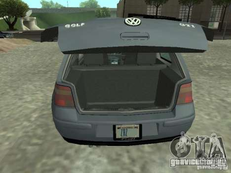 Volkswagen Golf IV для GTA San Andreas вид сзади