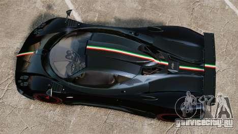 Pagani Zonda Cinque 2009 для GTA 4 вид справа