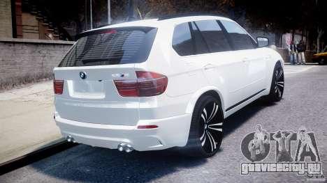 BMW X5M Chrome для GTA 4 вид сверху