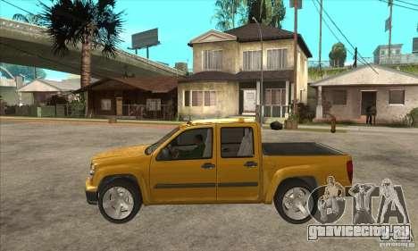 GMC Canyon 2007 для GTA San Andreas вид слева