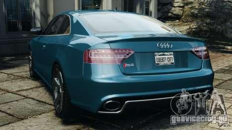 Audi RS5 2011 [EPM] для GTA 4 вид сзади слева