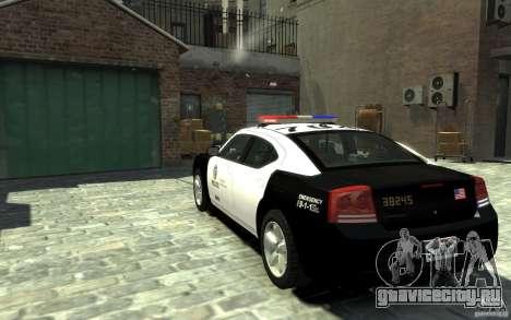 Dodge Charger LAPD V1.6 для GTA 4 вид сзади слева