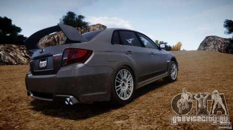 Subaru Impreza WRX STi 2011 для GTA 4 вид сверху