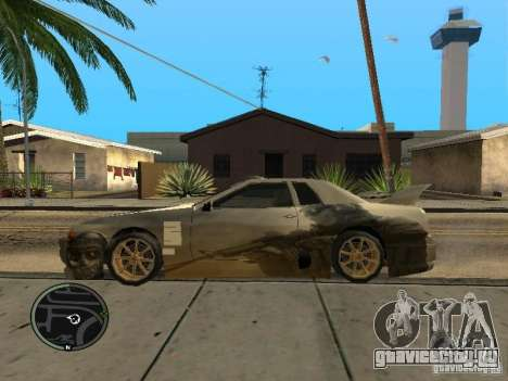 Ghost vynyl для Elegy для GTA San Andreas вид слева