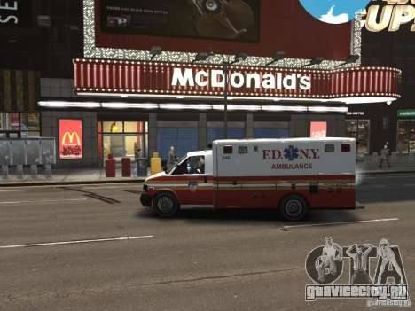 Chevrolet Ambulance FDNY v1.3 для GTA 4 вид слева