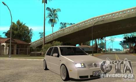 VW Golf 4 V6 Bolf для GTA San Andreas вид сзади