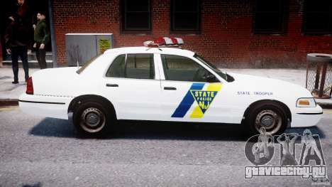 Ford Crown Victoria New Jersey State Police для GTA 4 салон