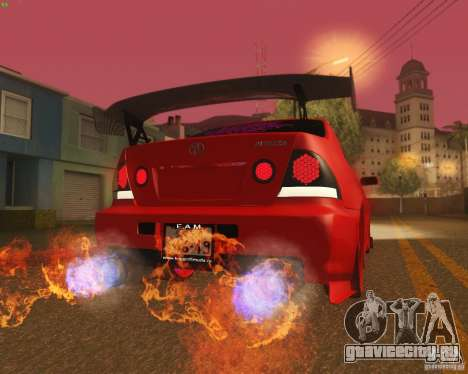 Toyota Altezza Drift Style v4.0 Final для GTA San Andreas вид снизу