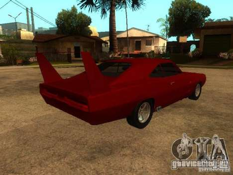 Dodge Charger Daytona Fast & Furious 6 для GTA San Andreas вид снизу