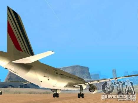 Airbus A320 Air France для GTA San Andreas вид справа