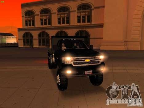 Chevrolet Silverado HD 3500 2012 для GTA San Andreas салон
