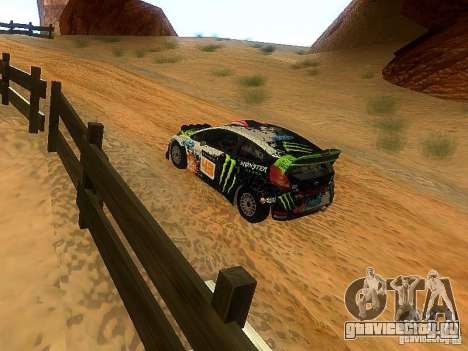 Ford Fiesta RS WRC 2012 для GTA San Andreas вид справа