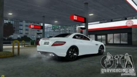 Mercedes-Benz SLK55 R172 AMG 2011 v1.0 для GTA 4 вид сзади слева