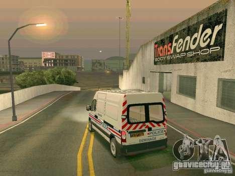 Renault Master для GTA San Andreas вид снизу