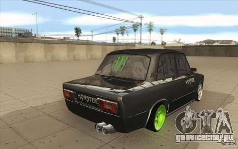 ВАЗ-2106 Lada Drift Tuned для GTA San Andreas вид сбоку