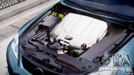 Lexus IS F для GTA 4 вид изнутри