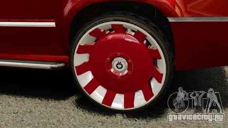 Cadillac Escalade 2011 DUB для GTA 4 вид сзади