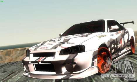 Nissan Skyline R34 Blitz для GTA San Andreas