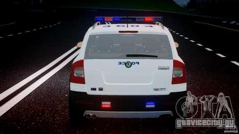 Skoda Octavia Scout NYPD [ELS] для GTA 4 двигатель