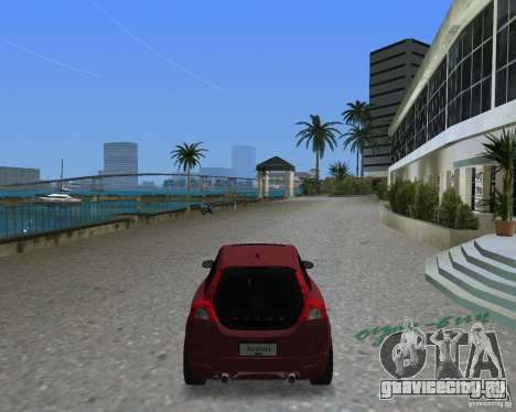 Volvo C30 для GTA Vice City вид сзади слева