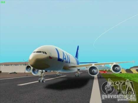 Airbus A380-800 Lan Airlines для GTA San Andreas вид слева