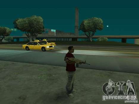 FN Scar-L HD для GTA San Andreas третий скриншот