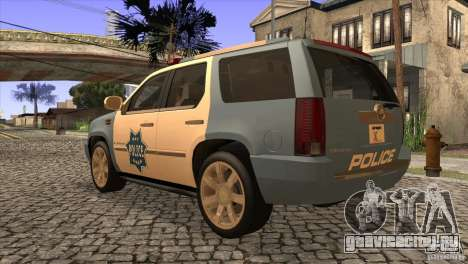 Cadillac Escalade 2007 Cop Car для GTA San Andreas вид сзади слева