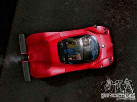 Pagani Zonda EX-R для GTA San Andreas вид сзади слева