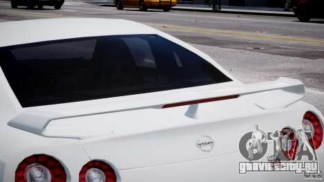 Nissan Skyline GT-R R35 для GTA 4 вид снизу