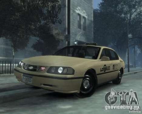 Chevrolet Impala 2003 Taxi для GTA 4