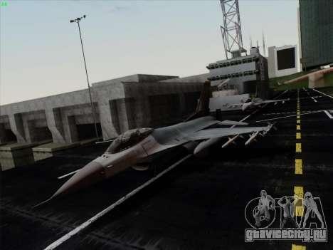F-16C Warwolf для GTA San Andreas вид слева