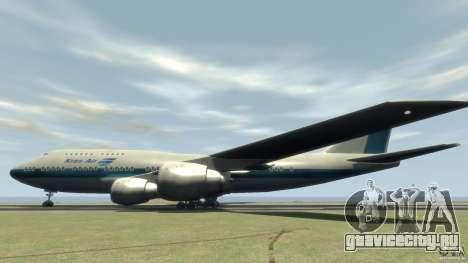 Boening 747-400 Kras Air для GTA 4 вид слева