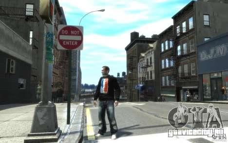 Джинсы и футболка для Нико для GTA 4