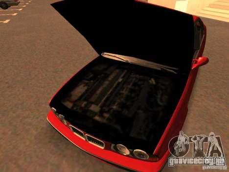 BMW M5 E34 для GTA San Andreas вид изнутри