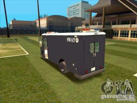 Swat Van from L.A. Police для GTA San Andreas вид справа